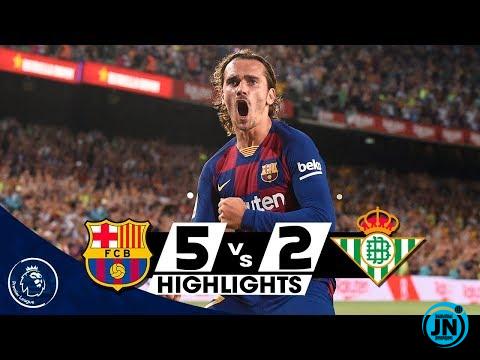 Barcelona vs Real Betis 5-2 – All Goals & Highlights