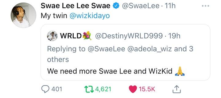 [JustNaija - StarBoy Confirms He Is A Twin To American Rapper, Swae Lee